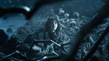 Бран Старк в пещере 4x10