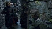 Arya hides