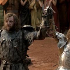 Ser Loras ogłasza Sandora Clegane zwycięzcą turnieju.