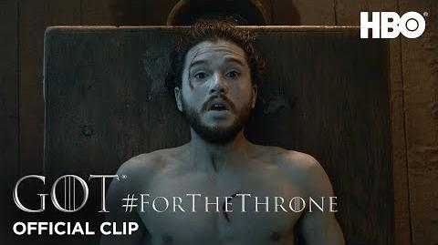 """Jon Snow's Resurrection"" ForTheThrone Clip Game of Thrones Season 6"