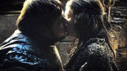 Gilly and sam kiss