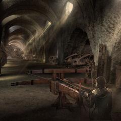 Cersei in den Drachenschädelräumen mit der neuen Baliste