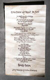 604 Ramsay Boltons Brief an Jon Schnee
