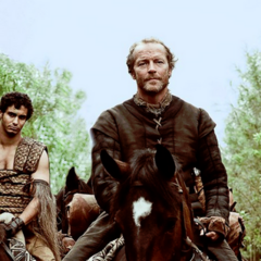 Jorah riding with Drogo's <i>khalasar</i> in