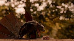 Drogon breathes fire