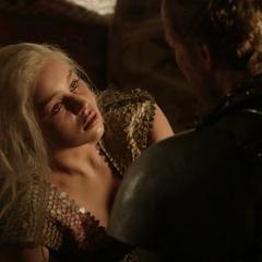 Ser Jorah z Dany, która urodziła martwego syna.