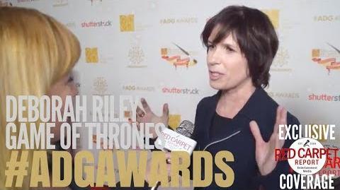 Deborah Riley, Production Designer GameofThrones interviewed at 22nd Annual ADGAwards