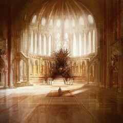 Wyobrażenie autorstwa Marka Simonettiego, sala tronowa jest wielkości <a href=