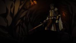 ארתור דיין הורג את האביר המחייך