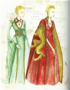 Cersei costume Season 1 concept art 1