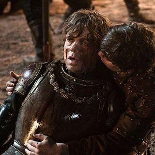 Imagem promocional de Podrick e Tyrion de