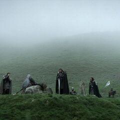 Eddard verwendet Eis bei der Hinrichtung von Will.