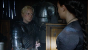 Brienne swears to Sansa.