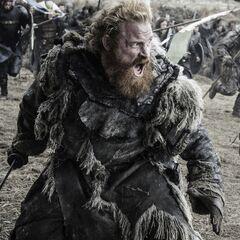 Tormund podczas bitwy bękartów.