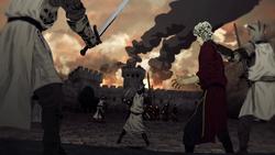 Fé Militante versus Guarda Real de Aenys na Fortaleza Vermelha