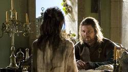 Арья рассказывает отцу об опасности 1x05