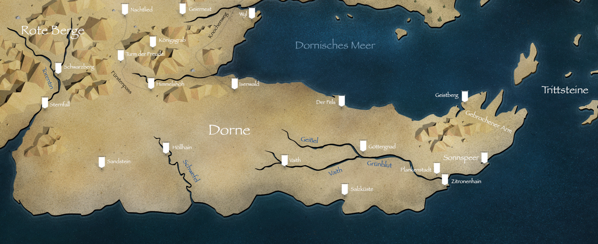 Got Karte.Dorne Game Of Thrones Wiki Fandom Powered By Wikia