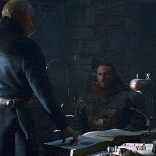 Tywin Lannister krzyczy na Amory'ego.