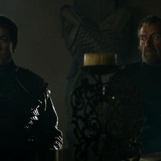 Brynden e Edmure durante a negociação com os Frey.