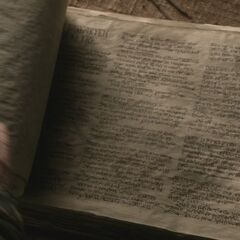 Casa Targaryen, segunda página visível.
