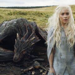 Dany i Drogon.
