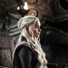 Daenerys listens at the Painted Table.