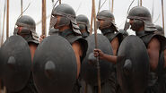 Unsullied armor and helmets