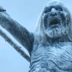 A White Walker shrieking a battle cry during the Battle of the Fist of the First Men