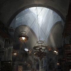 Die Große Bibliothek der Zitadelle von <i>Karakter</i>