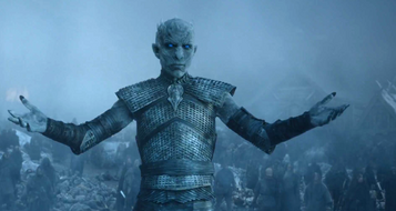 Night king raised arms