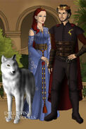 The stag king and wolf queen by marco124-dcao1pw