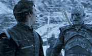 Night king the door with bran