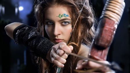 File:Lovely robin hood eyes bow and arrow girl face-hd-wallpaper-556651.jpg