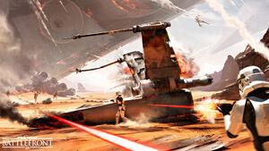 Battle of Jakku Concept Art -2