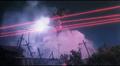 Queen Legion's laser tendrils striking Gamera - 2