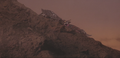 Gamera - 3 - vs Gyaos - 36 - Gamera pulls Gyaos into the volcano