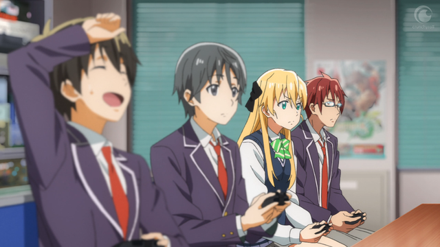 flirting games anime boy girls club girls