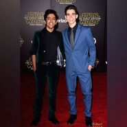 Karan Brar and Cameron Boyce