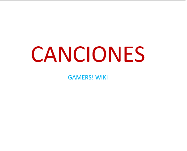 Gamers! Wiki - Canciones