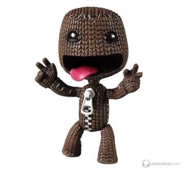 3390 Little Big Planet SackBoy Happy 4in figure kh