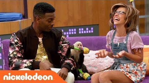 Kel Mitchell & Maddie Shipman Hangin' w A Monkey Game Shakers Nick