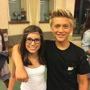 Thomas Kuc and Madisyn Shipman