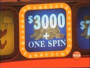 $3,000 + One Spin