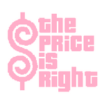 The Price is Right Logo with Trimmed Letters in Pink