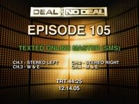 Deal or no Deal Production Slate