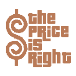 The Price is Right Logo in Light Brown with White Background