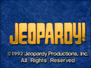Jeopardy! 1991-1992 season copyright card