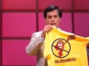 Peter Holding a No Whammy T-Shirt