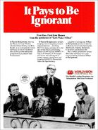 It Pays to Be Ignorant Ad 2-11-1974