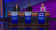 Jeopardy Geico direct sponsor podium